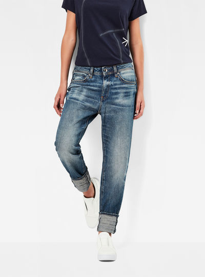 Midge Saddle Mid Waist Boyfriend Jeans
