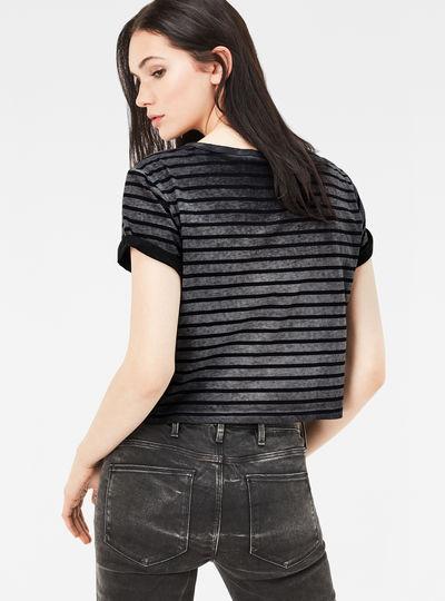 Eva Stripe Cropped Straight T-Shirt