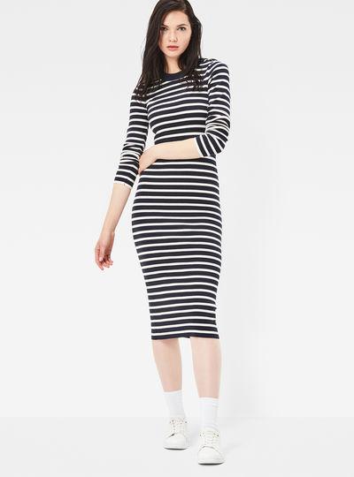 Exly Slim Stripe Knit Dress