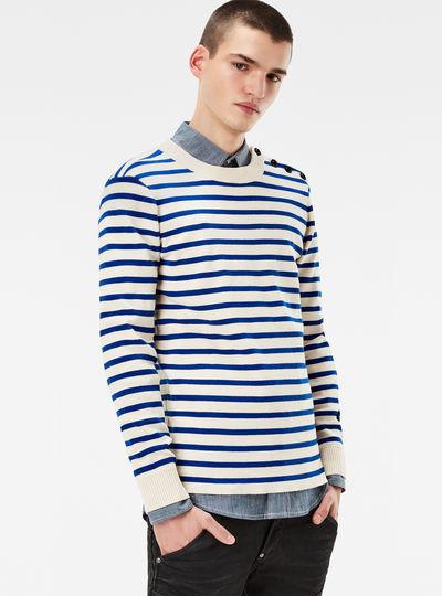 Dadin Stripe Knit Pullover