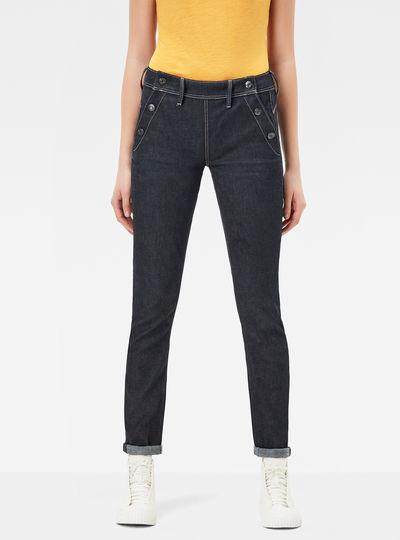 Lynn Navy Mid Waist Skinny Jeans