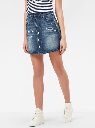 Arc Button A-Line Skirt