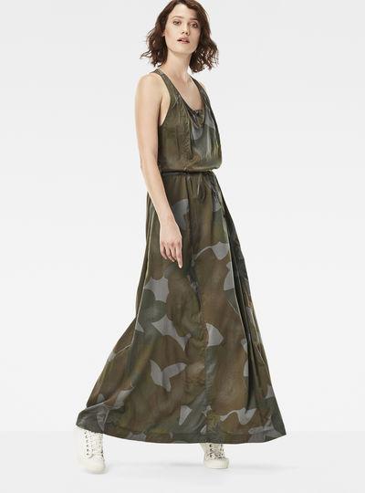 Army Radar Maxi Dress