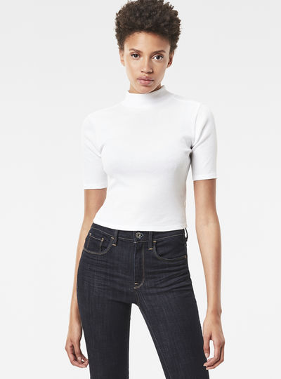 Xinva Slim Cropped Funnel Top