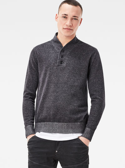 Core Shawl Collar Plated Regular Fit Knit