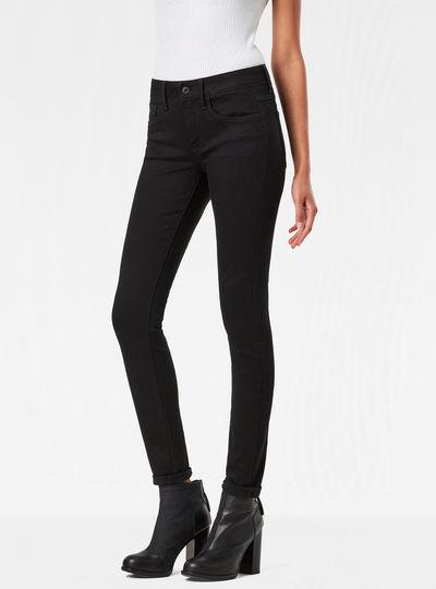 3301 D-Mid Waist Super Skinny Jeans