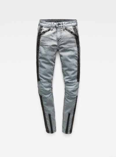 5620 G-Star Elwood Moto Zip Mid Waist Skinny Jeans