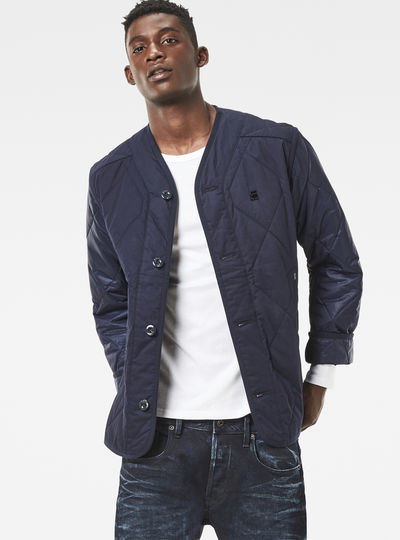 Liner Cropped Quilted Overshirt