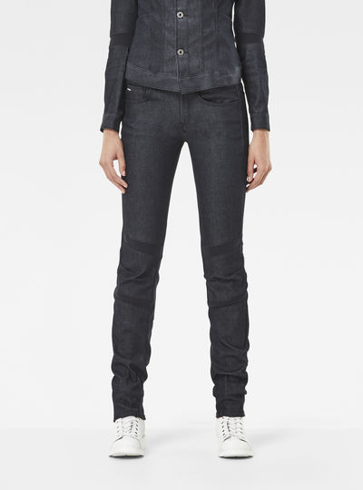 Motac Deconstructed 3D Mid-Waist Skinny Jeans